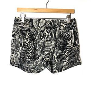EXPRESS Snakeskin Print Front Pleated Dress Shorts